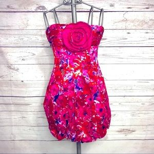 BCBGMaxAzria Floral Bubble Dress